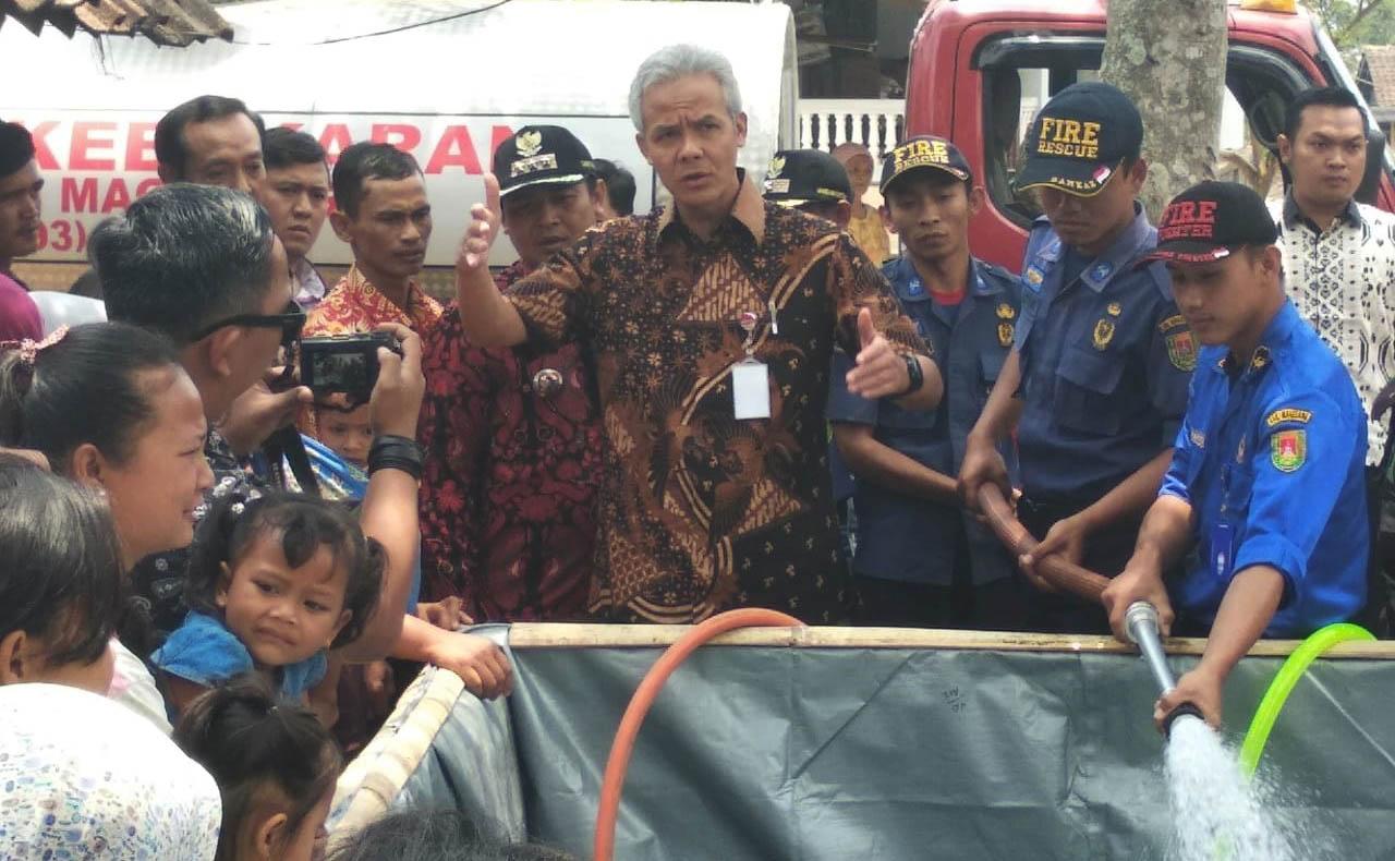 Gubernur Jawa Tengah Berharap Tim KKN UNNES Dapat Temukan Sumber Air Bersih