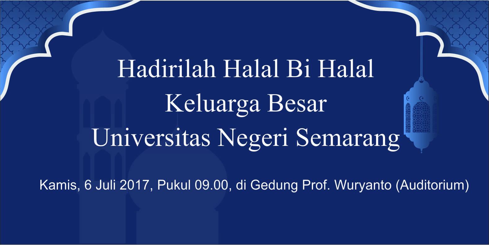 Kamis Besok, UNNES Halal Bi Halal