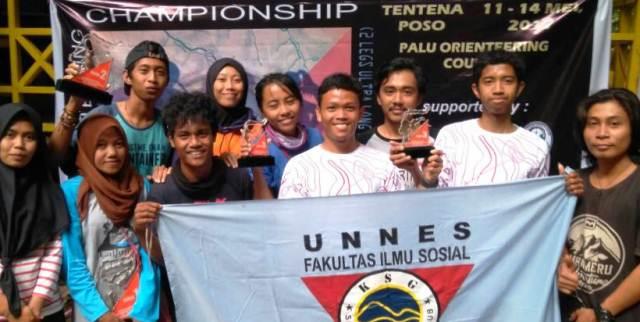 Berkompetisi Dengan Prestasi, SAC FIS UNNES Menjuarai Palu Orienteering Course