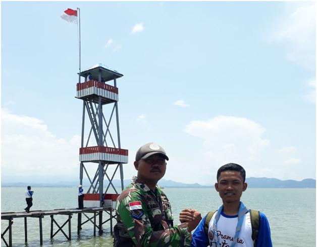Pramuka UNNES Jaga Perbatasan Indonesia – Malaysia dalam Kemah Bela Negara Nasional di Pulau Sebatik