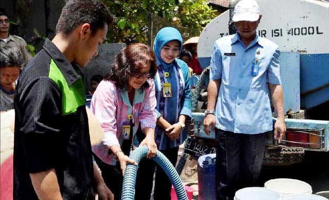 Mahasiswa KKN Unnes Bantu Air Bersih Desa Mutihkulon, Wedung