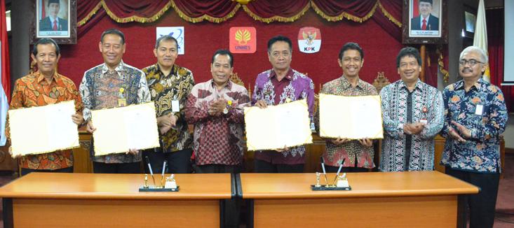 Pencanangan Zona Integritas UNNES Disaksikan Wakil Ketua KPK, Irjen dan Dewas