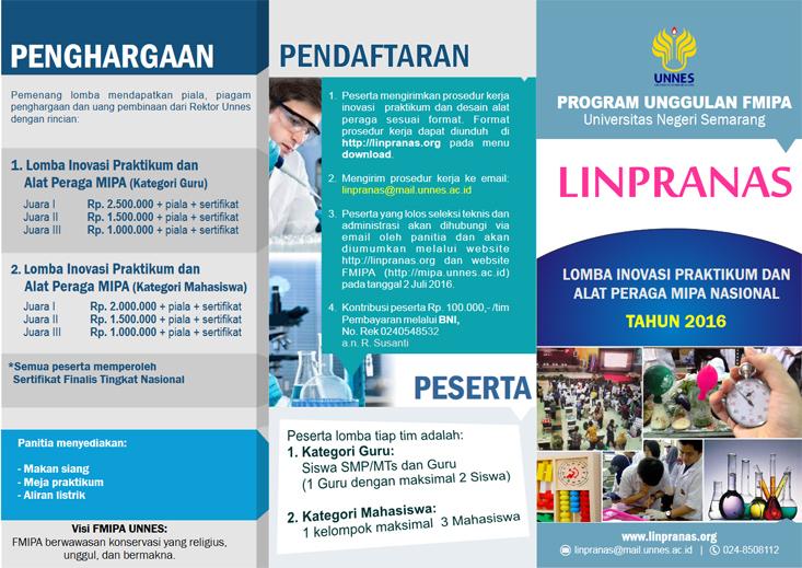 Lagi, FMIPA UNNES Gelar Lomba Inovasi Praktikum Nasional