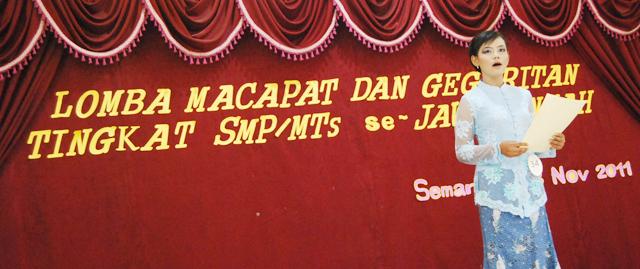 SMP 4 Boyolali Juara I Macapat, SMP 9 Semarang Juara I Geguritan