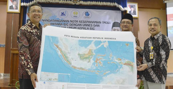 Badan Informasi Geospasial MoU Dengan UNNES