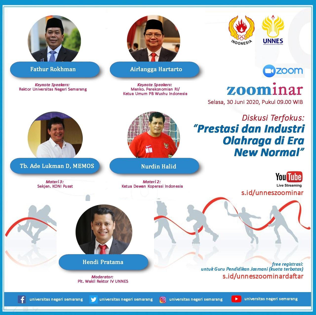 Besok, Menko Perekonomian RI Jadi Keynote Speakers Di UNNES