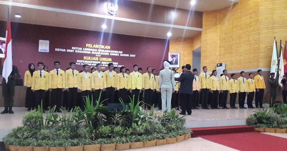 Rektor: Lembaga Kemahasiswaan untuk Pengembangan Karakter dan Prestasi