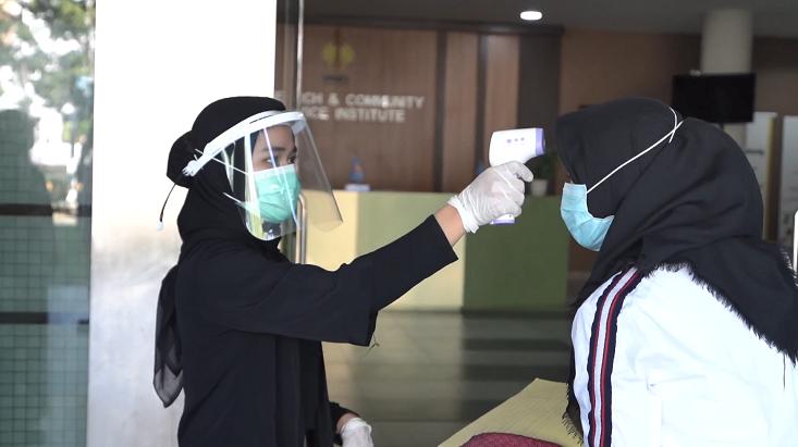 Hari Pertama UTBK, UNNES Terapkan Protokol Kesehatan dengan Ketat