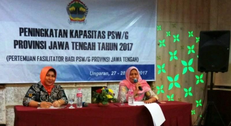 PSGA UNNES Ketua PSW Jateng, UNSOED Sekretaris