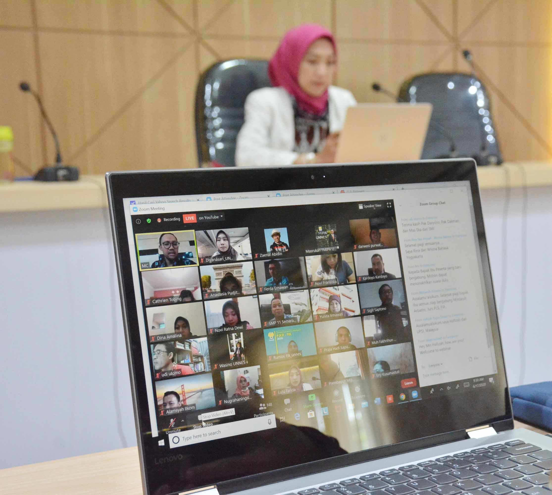 Webinar International Office UNNES : Effective Strategies in Strengthening Succsessfull Partnership for Autonomous Campus Implementation