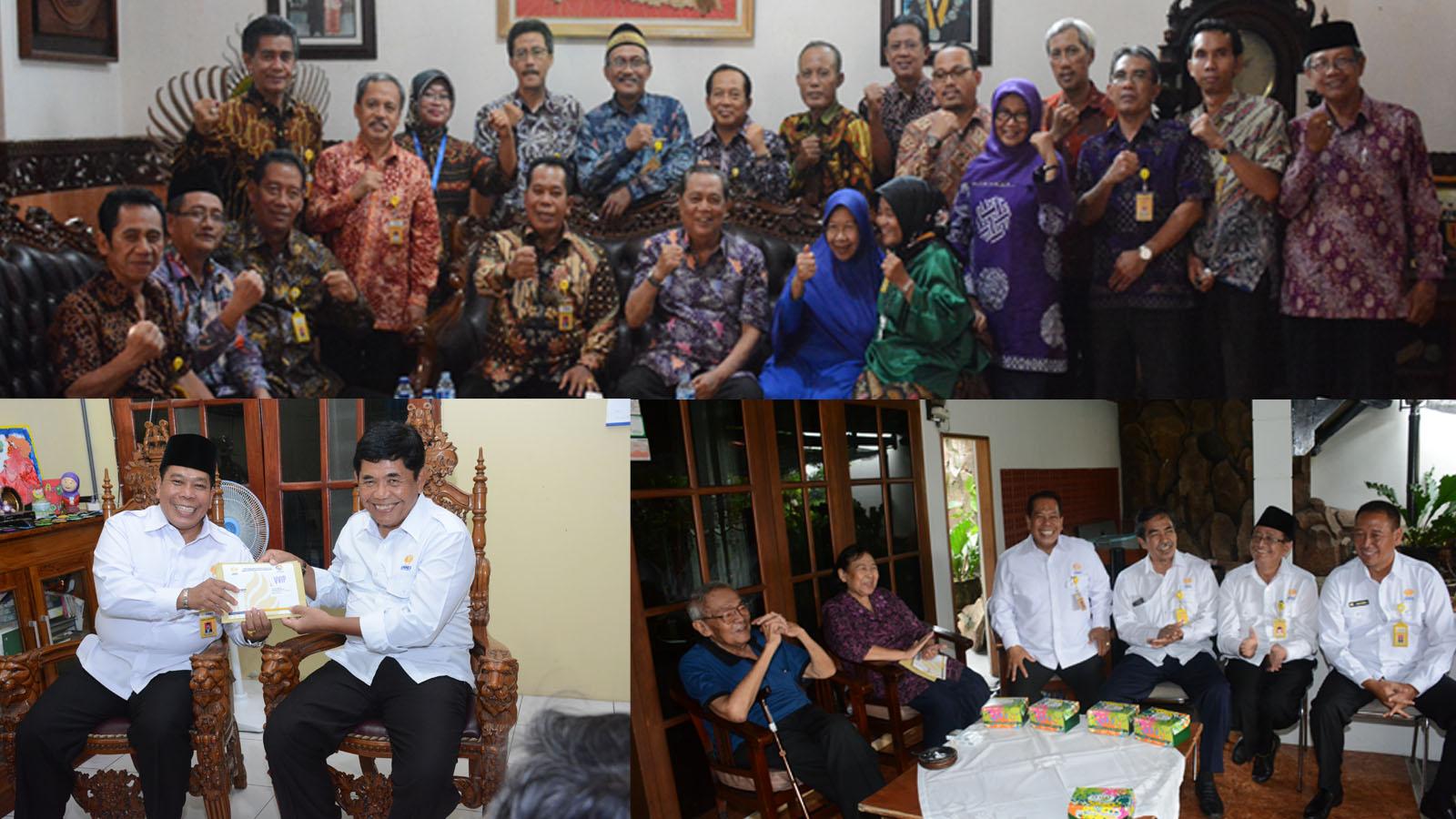 Kehangatan Dan Keakraban dalam Silaturahmi Ke Rektor Senior
