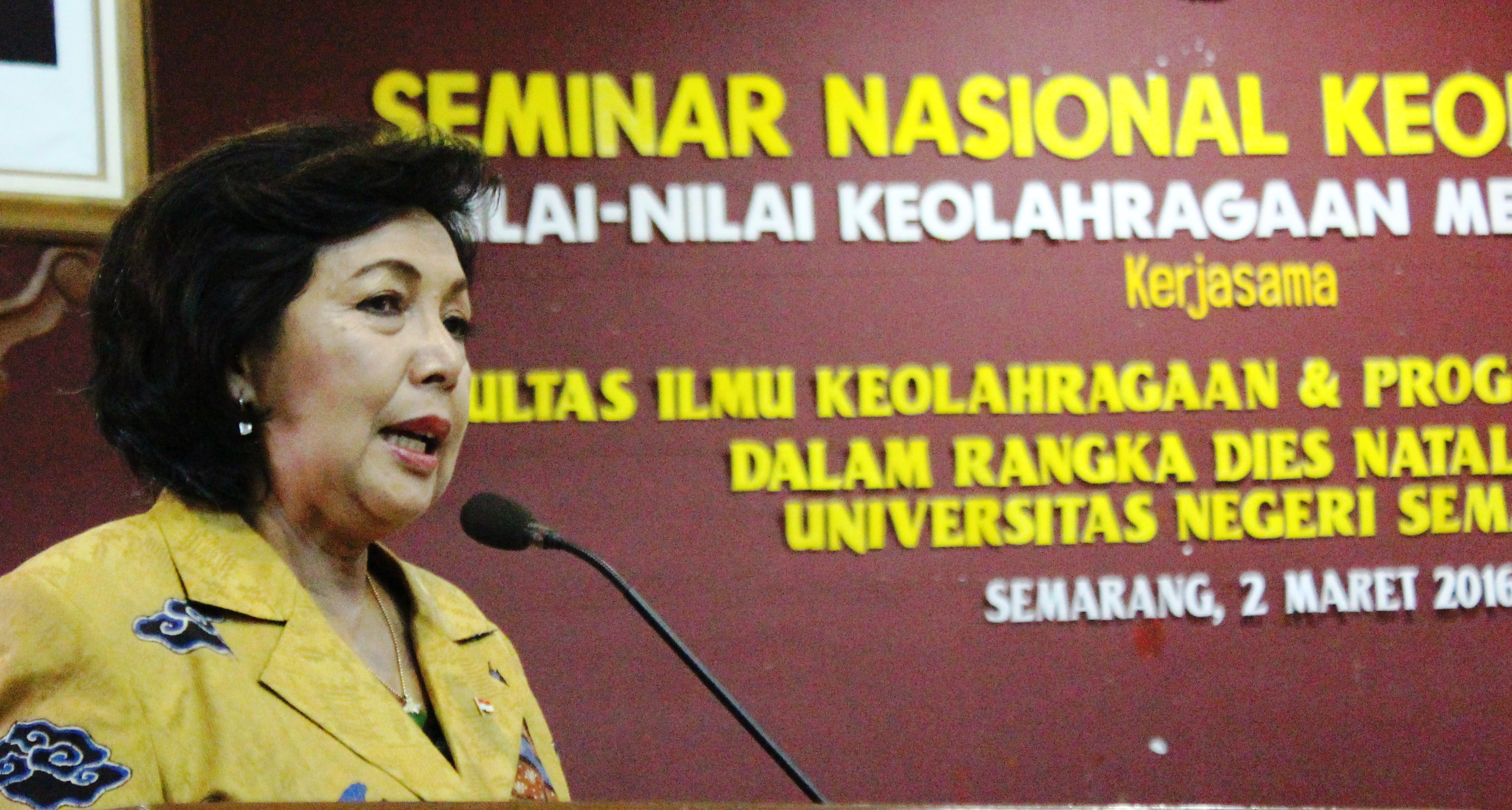 Di Unnes, Dr (HC) Rita Subowo Ajak Ciptakan Lingkungan Pendidikan yang Lebih Kondusif