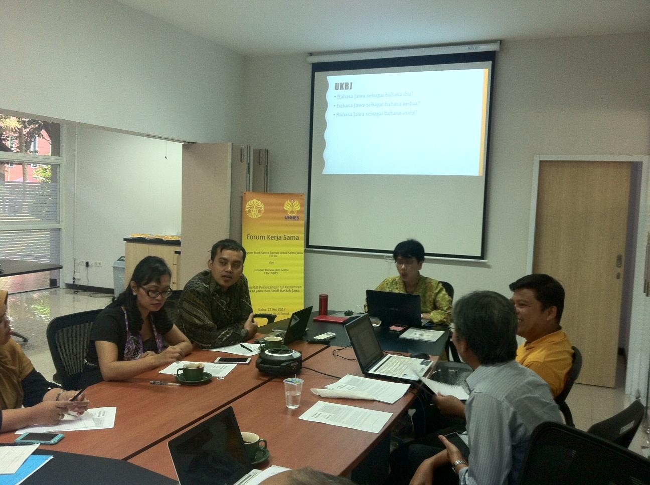 Jurusan Bahasa Jawa UNNES dan UI Matangkan Draf UKBJ