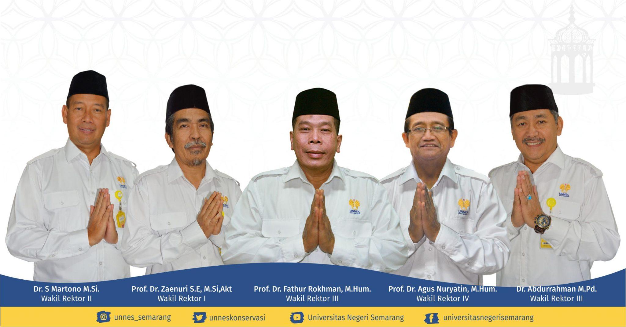 Rektor dan Keluarga Besar UNNES Mengucapkan Selamat Idul Fitri