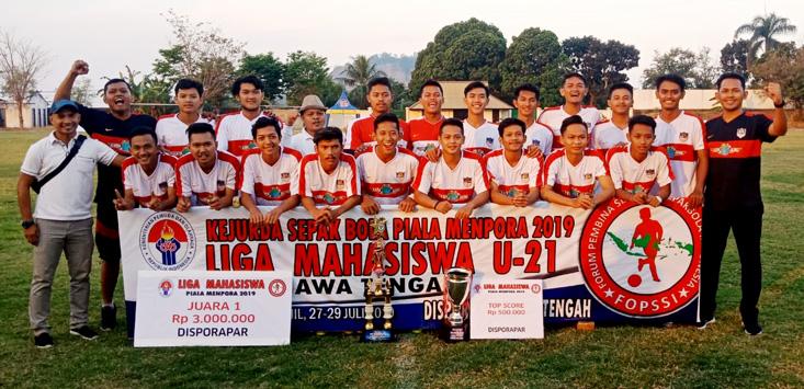 UNNES Juarai Liga Mahasiswa Piala Menpora, Siap Mewakili Jateng Ke Tingkat Nasional