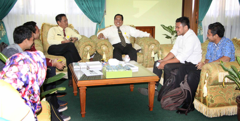 Silaturahmi ke Rektor, BEM KM 2016 Perkenalkan Kabinet Baru