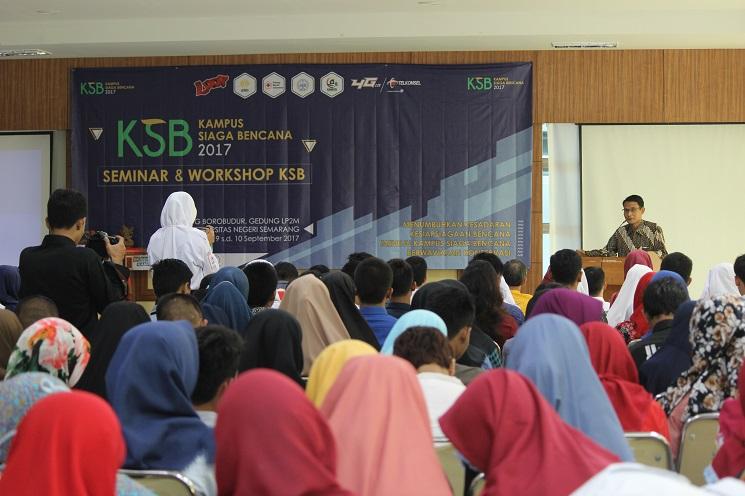 Gelar Seminar dan Workshop, UKM KSR Teguhkan UNNES sebagai Kampus Siaga Bencana