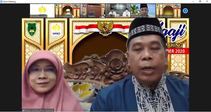 Hadiri Pengajian Ahad Pahing, Rektor UNNES: Luruskan Niat, Rekatkan Silaturahmi