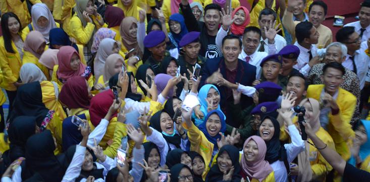 AHY Semangati Mahasiswa Baru, Ajak Wujudkan Indonesia Emas 2045