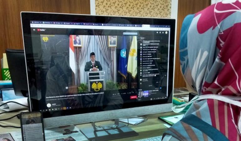 UNNES Laksanakan Dies Natalis ke-55 dan Lustrum ke-11 Lewat Video Streaming Online