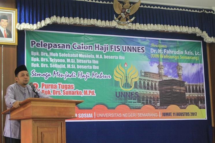 FIS UNNES Lepas Tiga Dosen Calon Haji dan Satu Dosen Purnatugas