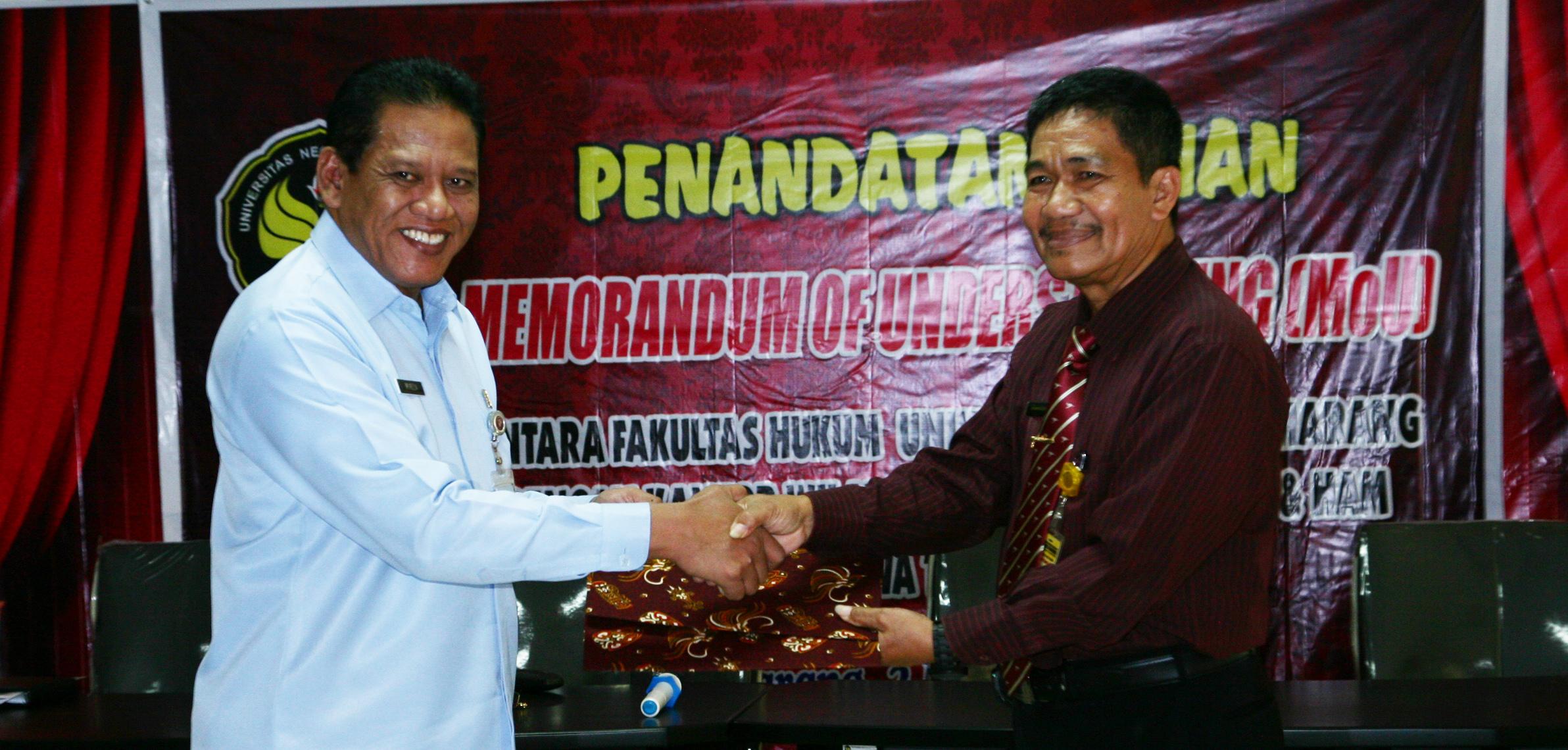 FH Unnes MoU dengan Kanwil Kementerian HAM Jateng